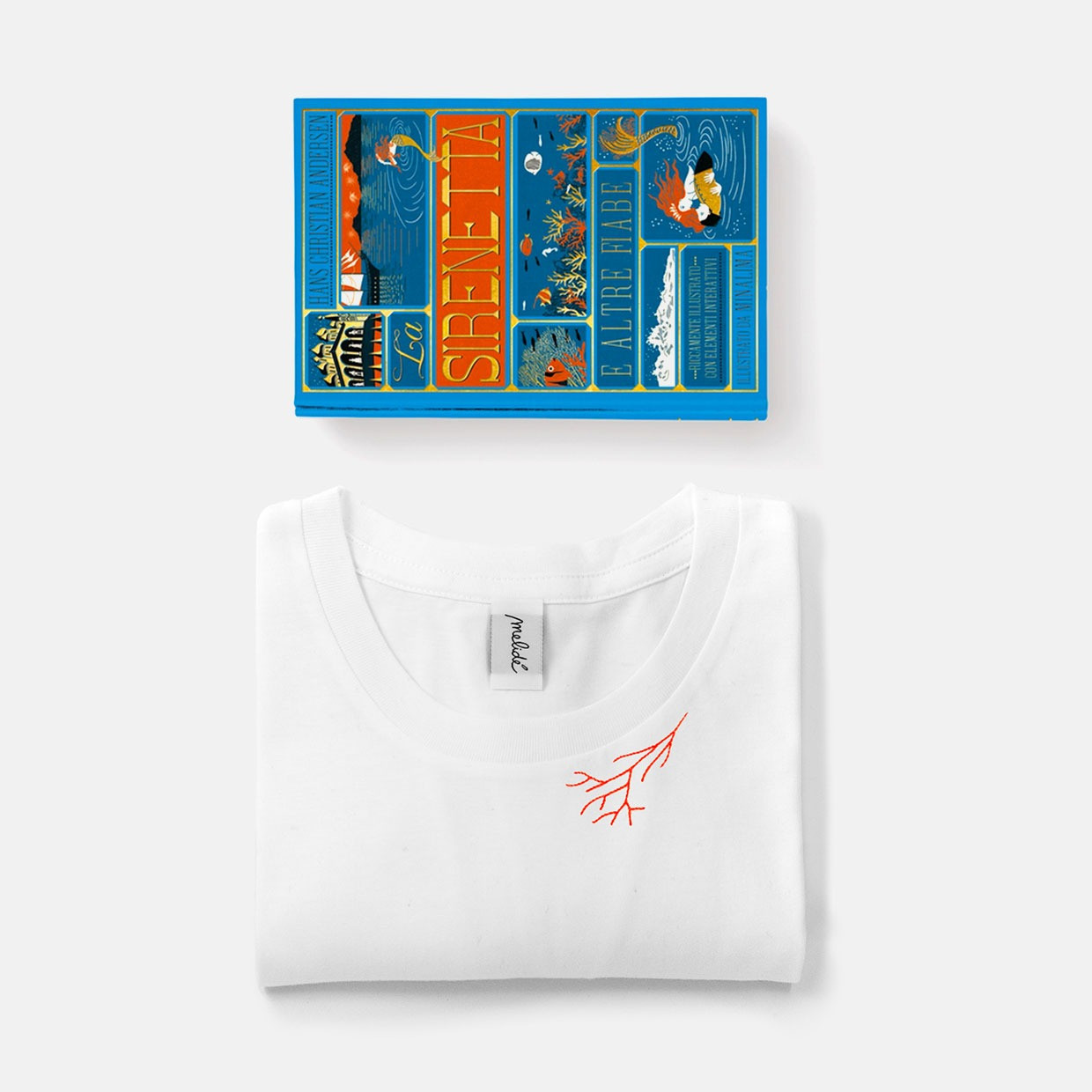 T-shirt Sirenetta ultimate + libro pop-up